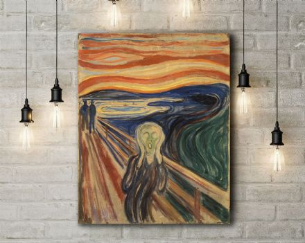 Edvard Munch: The Scream. Fine Art Canvas.